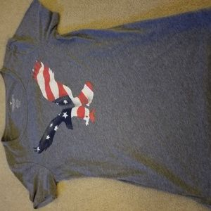 Item Name: Ladies Gray USA Eagle Short Sleeve T-Sh